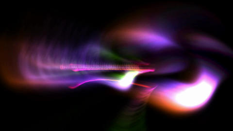 abstract waves colored, Stock Animation