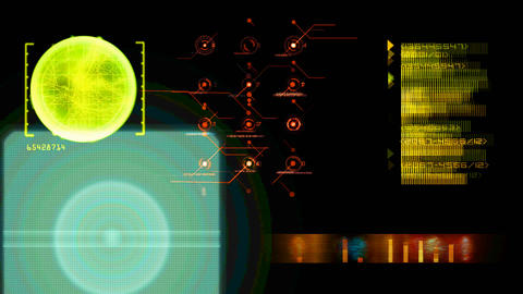 hud sci fi decoding Animation