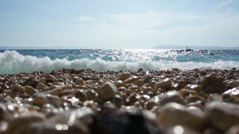 Beach And Sea stock footage