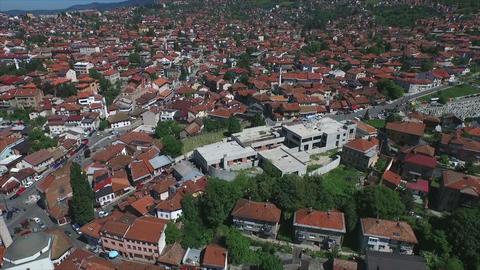 Sarajevo houses aerial Footage