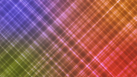 Broadcast Intersecting Hi-Tech Slant Lines, Multi Color, Abstract, Loopable, HD Animation