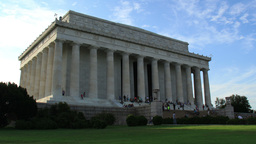 Lincoln Memorial Building Time Lapse Zoom Out Footage