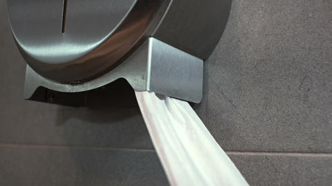 Pulling toilet paper Footage