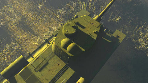 Russian Tank T 34 Top view Footage