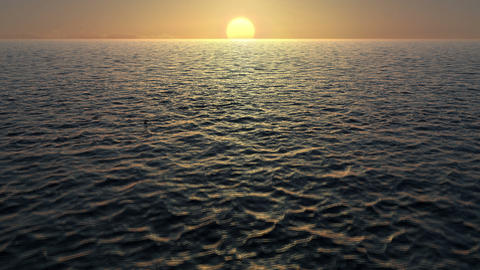 Sunrise Over The Ocean Waves stock footage
