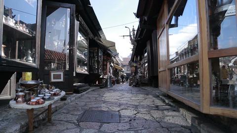 Sarajevo Old Town Footage
