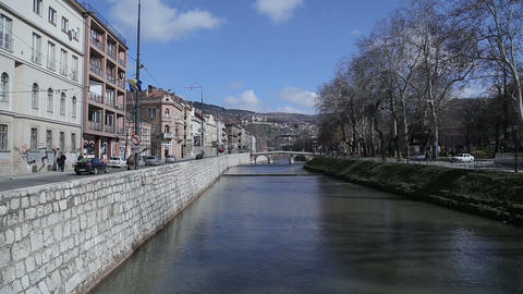 Sarajevo Latin Bridge - wide shot Footage