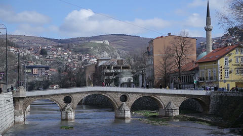 Latin bridge, Sarajevo, Bosnia and Herzegovina Footage