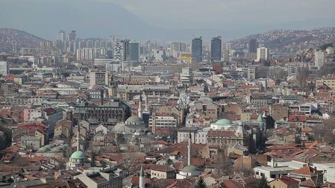 Sarajevo buildings Footage