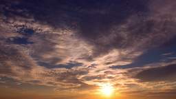 Sunset Cloudscape Timelapse stock footage