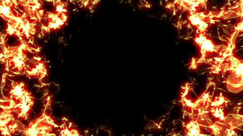 Flame cylinder looped, Stock Animation