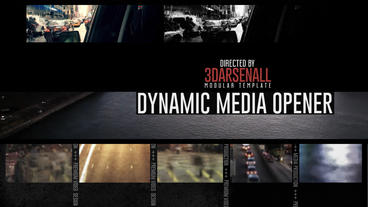 Dynamic Media Opener - Titles V2 stock footage