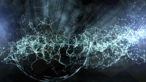 Spherical Network Haze stock footage