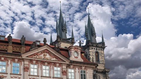 Church of our Lady Tyn, Prague Footage
