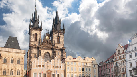 Church Of Our Lady At Tyn, Prague stock footage