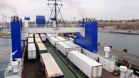 ferry docks Footage
