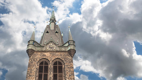 The Prague Powder Tower stock footage