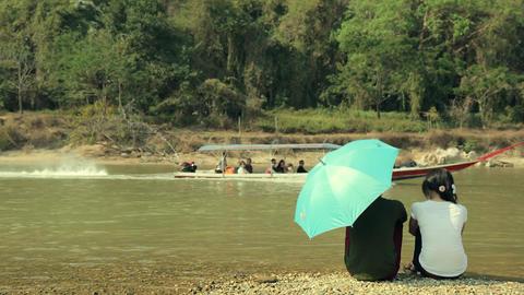 River Romantic Scenes stock footage