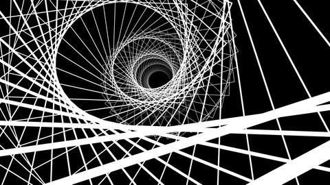 4k UHD wireframe spiral Animation