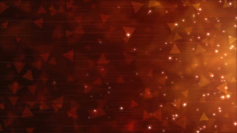 Triangle Particle Background Animation - Loop Red Animation