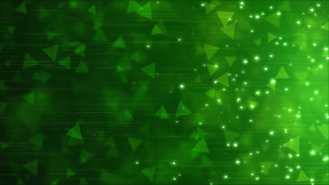 Triangle Particle Background Animation - Loop Green CG動画