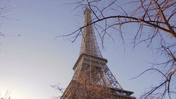 Steadicam Eyfelevaya Tower Paris stock footage
