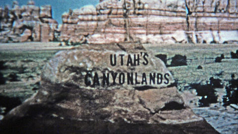 1971: Utah Canyonlands Old Style Analog Title Credit stock footage