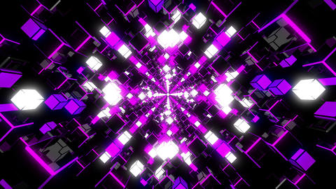 VJ Loop Violet Tunnel Animation