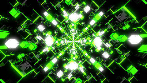 VJ Loop Green Tunnel Animation