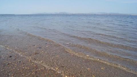 01 Krasnoyarsk Reservoir Waves stock footage