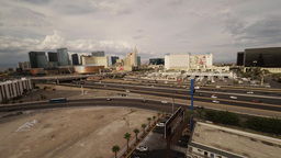 Aerial Flying Over The Las Vegas Fwy stock footage