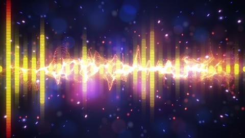 equalizer sound level meter loopable paty background Stock Video Footage