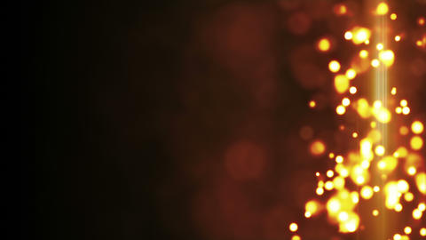 yellow glowing bokeh lights side bar loop background 4k (4096x2304) Animation