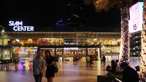 People walking near the Siam Center Footage