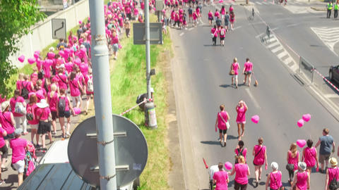 Editorial - Avon breast cancer awareness walk Footage