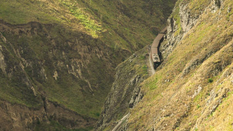 Nariz del Diablo high altitude train in Ecuador Footage