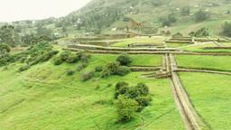 Popular touristic destination at Ingapirca ruins Ecuador Footage