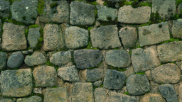 Close up of Inca ruins at Ingapirca Ecuador Footage