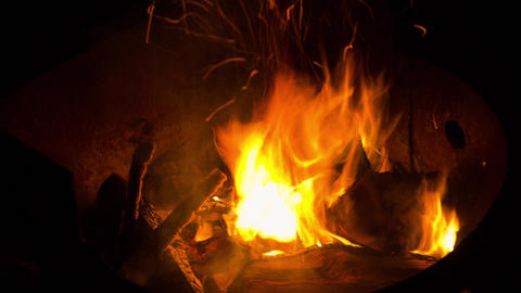 Campfire Pit Flames stock footage