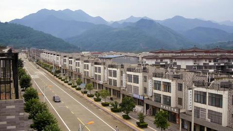 China Street Mountain Village stock footage