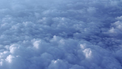 Clouds - Real From Airplane stock footage