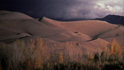 1972: Great Sand Dunes National Park showcases glowing sand Footage