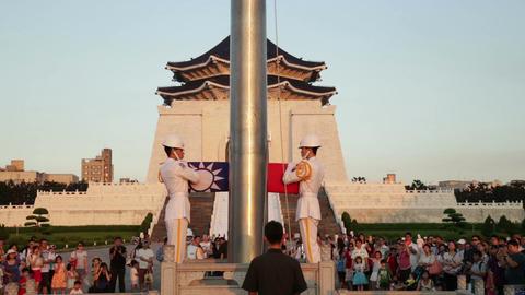 Honor guard folding flag 2 Footage