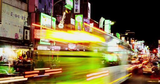 Timelapse View Of Taipei Shilin Night Market. 4K 影片素材