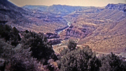 1972: Salt River Canyon Water Levels Running Low From Drought stock footage