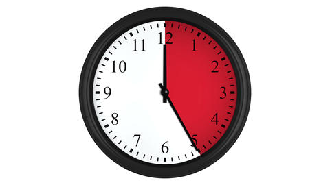 Animated clock with a red time interval Animation