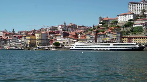 View To Porto City Riverbank stock footage