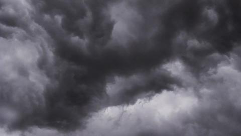Dark Thunder Lightning Storm Clouds Rotating Footage