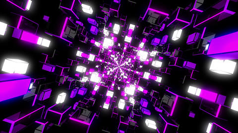 VJ Loops Color Rotating Tunnels