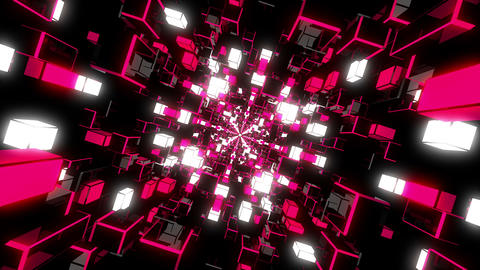 Pink Rotating Tunnel Animation